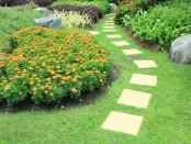 jardin aménagé avec un parcours