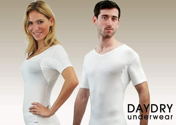 tee shirt anti transpirant daydry pour homme et femme